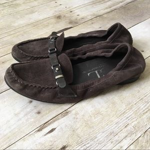AGL Brown Suede Slip On Loafers Comfy Shoes